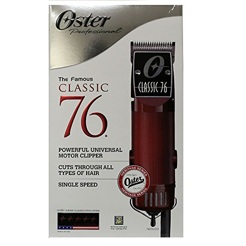 Oster Classic 76 Professional Clipper W/2 Blades And Free Original Oster 10 Pc Guide Comb Set by Oster (Image #1)