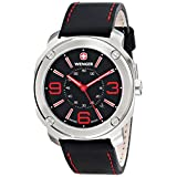Wenger Men's 01.1051.103 Escort Stainless Steel Watch with Black Leather Band