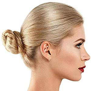 PAVOI 14K Gold Plated Cuff Earrings Huggie Stud   Small Hoop Earrings for Women
