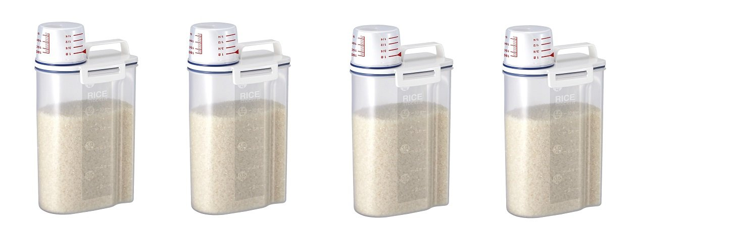 Rice Storage Bin with Pour Spout by Asvel 2kg ('4' PACK)