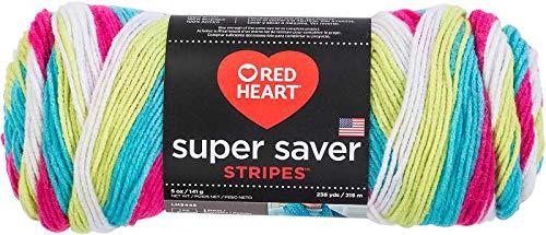 Bulk Buy: Red Heart Super Saver Yarn, Fair Isle, Candy Stripe, 2 skeins