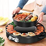 SEAAN Electric Hot Pot Grill Pan Indoor Korean