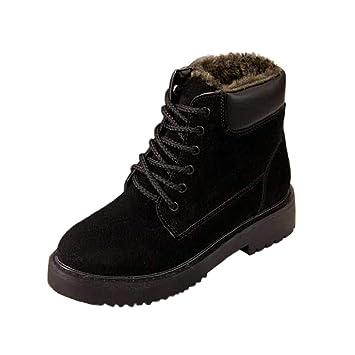 QUICKLYLY Botas De Nieve Mujer,Botines para Adulto,Zapatillas/Zapatos De Invierno Calzado De Tobillo Moda Más Planas con Cuña De Terciopelo con Top Alto: ...