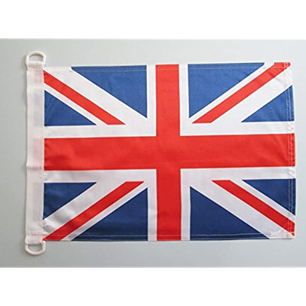 AZ FLAG Bandera Nautica del Reino Unido 45x30cm - Pabellón de conveniencia Inglesa - BRITANICA – UK 30 x 45 cm Anillos: Amazon.es: Hogar