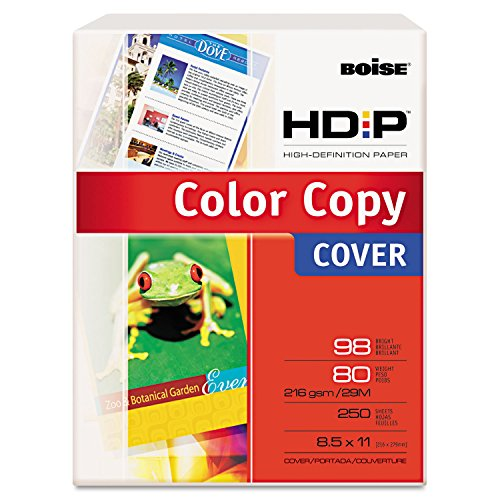 Boiseamp;reg; Enhanced Color Copy Cover, 80lb, White, 98 Brightness, Letter, 250 -