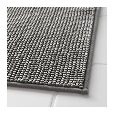 Ikea Gray Supersoft Bath Shower Mat Rug Bathtub Bathroom Floor Badaren 16 x 24
