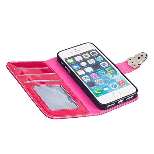 Meet de journal Bike pour Apple iPhone 5S / iphone SE Case, Folio pour Apple iPhone 5S / iphone SE PU Housse,Wallet / flip étui / Pouch / Case / Holster / Wallet / Case en cuir Wallet Style de couvert