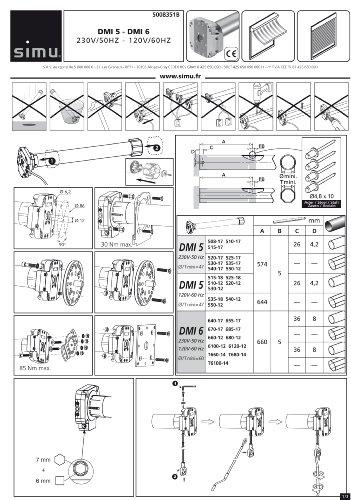 authentische Qualität wie man bestellt Online-Verkauf Simu Rolladenmotor Rohrmotor T5-15/17 DMI 15Nm SW60 38KG Nothandkurbel für  Rollladen Jalousie und Rolltor