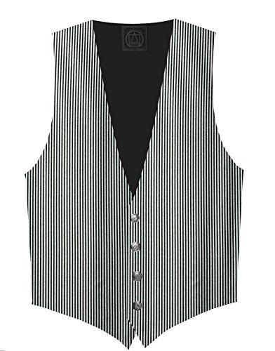 Victorian Vagabond Steampunk Gothic Brocade Men's Striped Vest