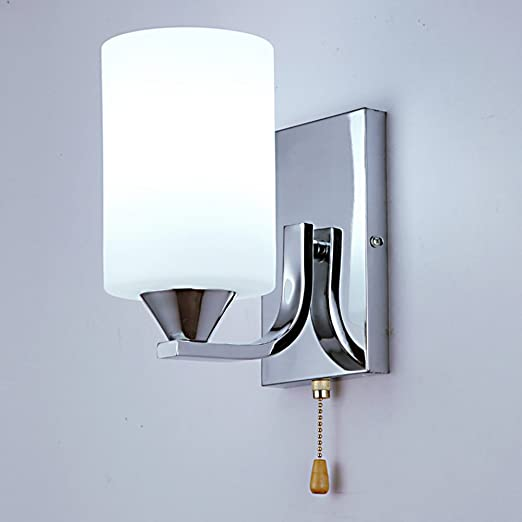 HDOH-XBD L/ámparas de cristal creativas modernas simples de los apliques de la peque/ña pared del LED con el interruptor de l/ínea del tir/ón
