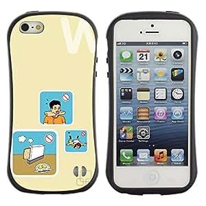 LASTONE PHONE CASE / Suave Silicona Caso Carcasa de Caucho Funda para Apple Iphone 5 / 5S / Bread Cooking Danger Art