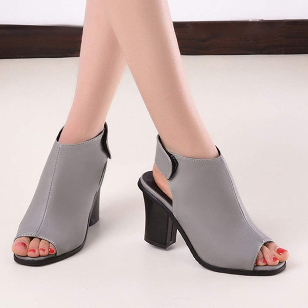 T-JULY Women Sandals Gladiator High Heel Office Lady Pumps Woman Shoes Black White Gray