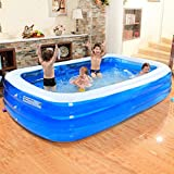 Sunhai& Outdoor Family Inflatable Pool Pool Children Inflatable Bathtub ( Size : 26517560cm )