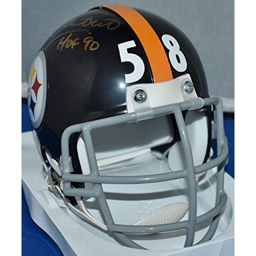 1eb53d84093 Jack Lambert Signed Autograph Custom Facemask Mini Helmet Pittsburgh  Steelers Hof 90 JSA Certified