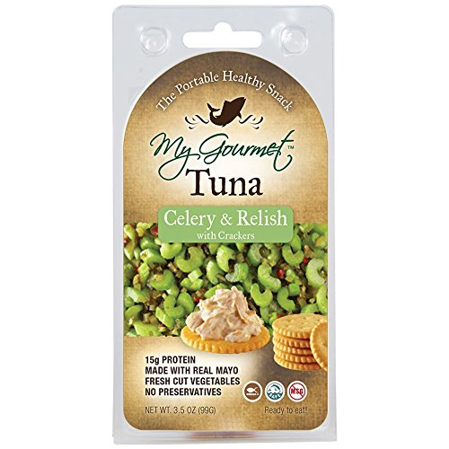My Gourmet Tuna Celery and Relish with Crackers, 3.5 Ounce (3 Count) ()
