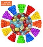 Tiny Balier Water Balloons 12 Pack 440 Balloons Easy Quick Fill for Splash Fun Kids and Adults Party Pool with in 60 Seconds k2