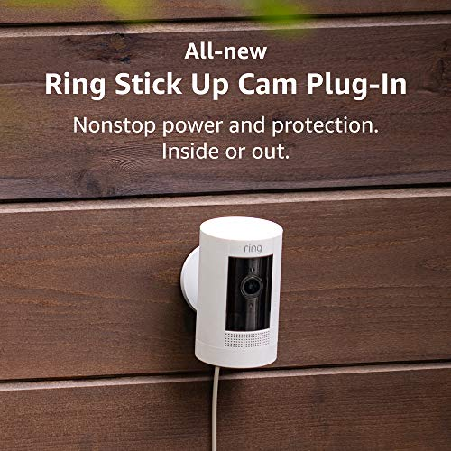 All new Ring Stick Up Cam Plug In HD security camera with two way talk Works with Alexa 2 Pack product image