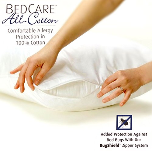 BedCare All-Cotton Allergy Pillow Cover (2, King) by Bedcare