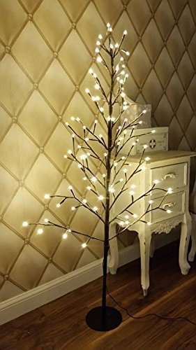 garden mile rustic shabby chic luxury 5ft flat twig christmas tree snow dusted and pre
