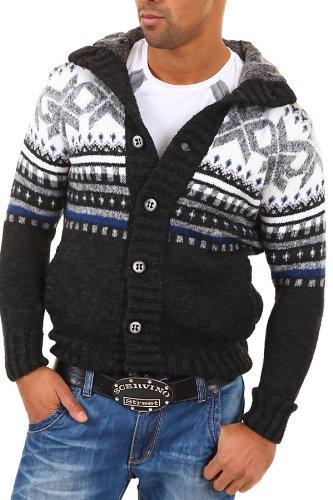 Carisma Men's Cardigan 7011 Size M Black