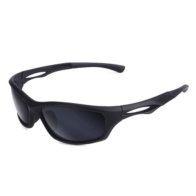 Amazon.com: Brigada Cool Black Deporte anteojos de sol ...