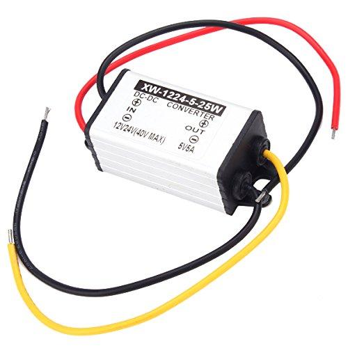 12V//24V to 5V 5A 25W DC to DC Car Power Supply Converter Step Down Regulator
