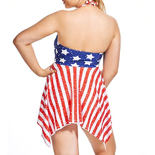 Damen Plus Siz Bademode SchwimmanzugBovake Frauen Plus Size Bikini ...