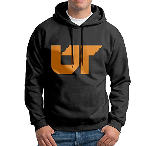 fan products of FUOALF Mens Pullover University Of Tennessee System Hooded Sweatshirt Black L