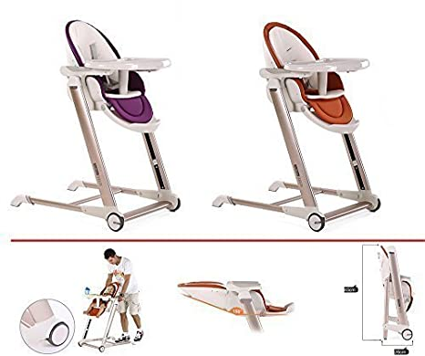 Star Ibaby Noa - Trona de bebes evolutiva plegable, color morado