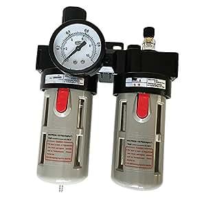 MagiDeal Bfc3000 Compresor De Aire Lubricador De Aceite Humedad Filtro De Agua Filtro Regulador