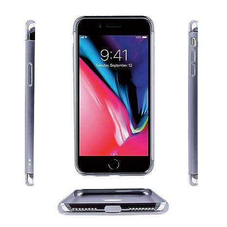 Electrónica Rey - Funda Carcasa Aluminio Cromado para iPhone 6 - iPhone 6S, Elegante y Ligera, Alta Resistencia