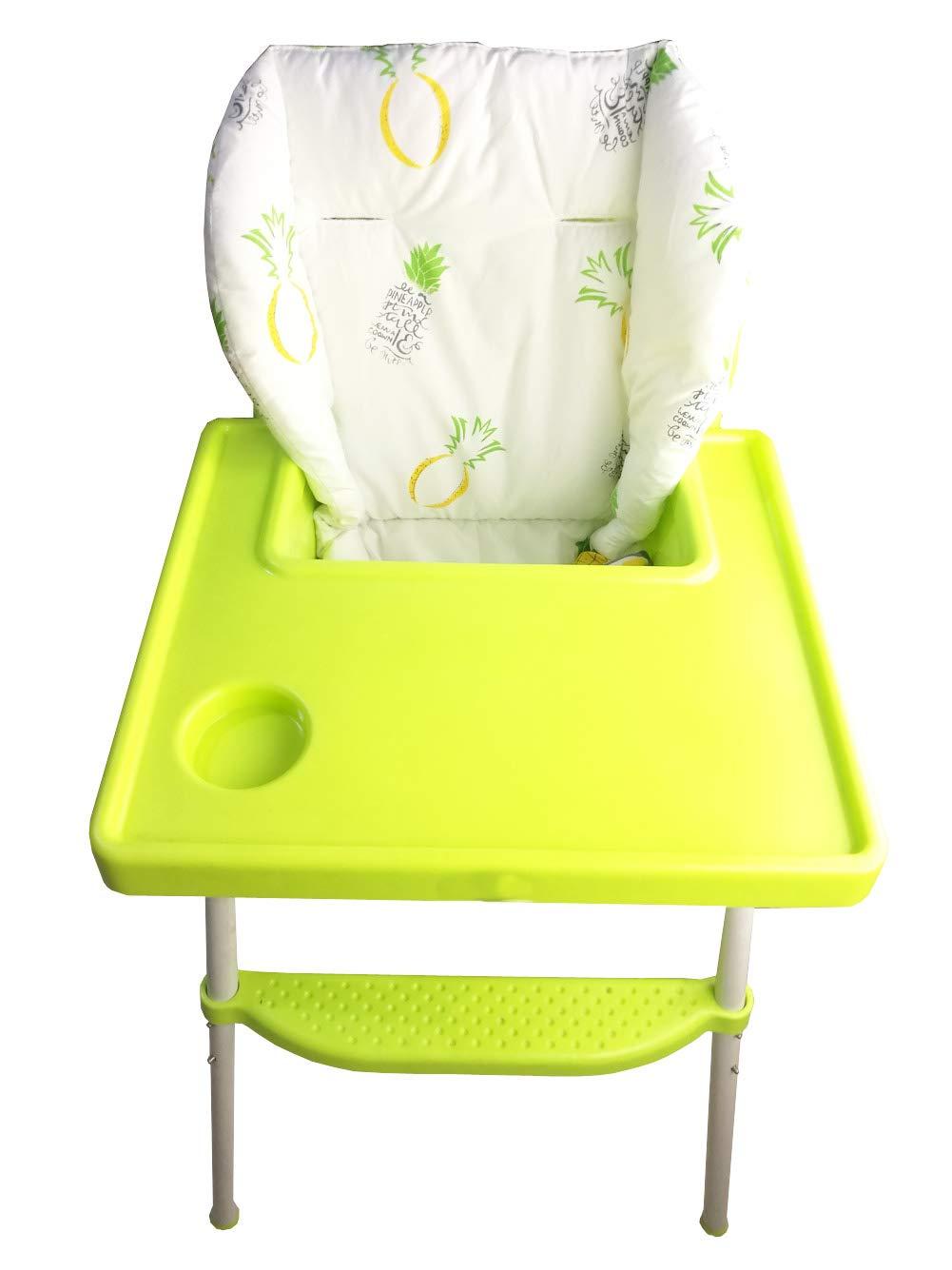 Pi/ña amarilla Amcho Cochecito de beb/é//Trona Coj/ín de la silla alta Coj/ín del asiento de coche Pel/ícula protectora Almohadilla de la silla alta transpirable