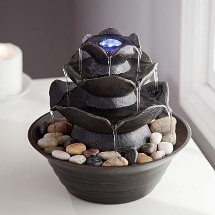 Amazon.com: Indoor Water Fountain / Outdoor Water Fountain, Tabletop ...