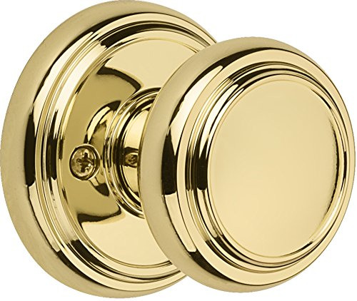 Baldwin Prestige Alcott Half-Dummy Knob in Polished Brass