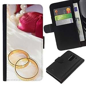 KingStore / Leather Etui en cuir / LG G3 / Promesa de amor