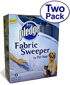SC Johnson Pledge Fabric Sweeper for Pet Hair, 2 Pack