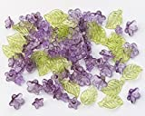 Best Darice Green Leaves - Acrylic Purple Flowers with Green Leaf Beads Review