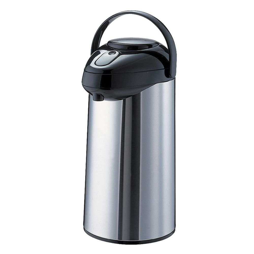 Service Ideas GLAP250 Airpot with Pump, Glass and Stainless Steel Lined, 2.5 L