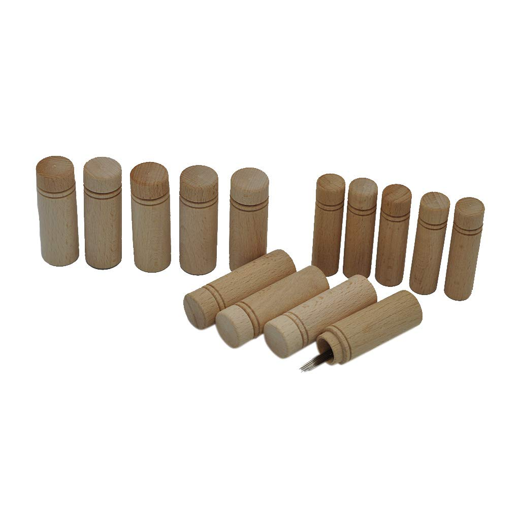 Travel Wooden Needle Holder Container Toothpick Tube Sewing Jar Knitting Sewing Organizer KUKALE Storage
