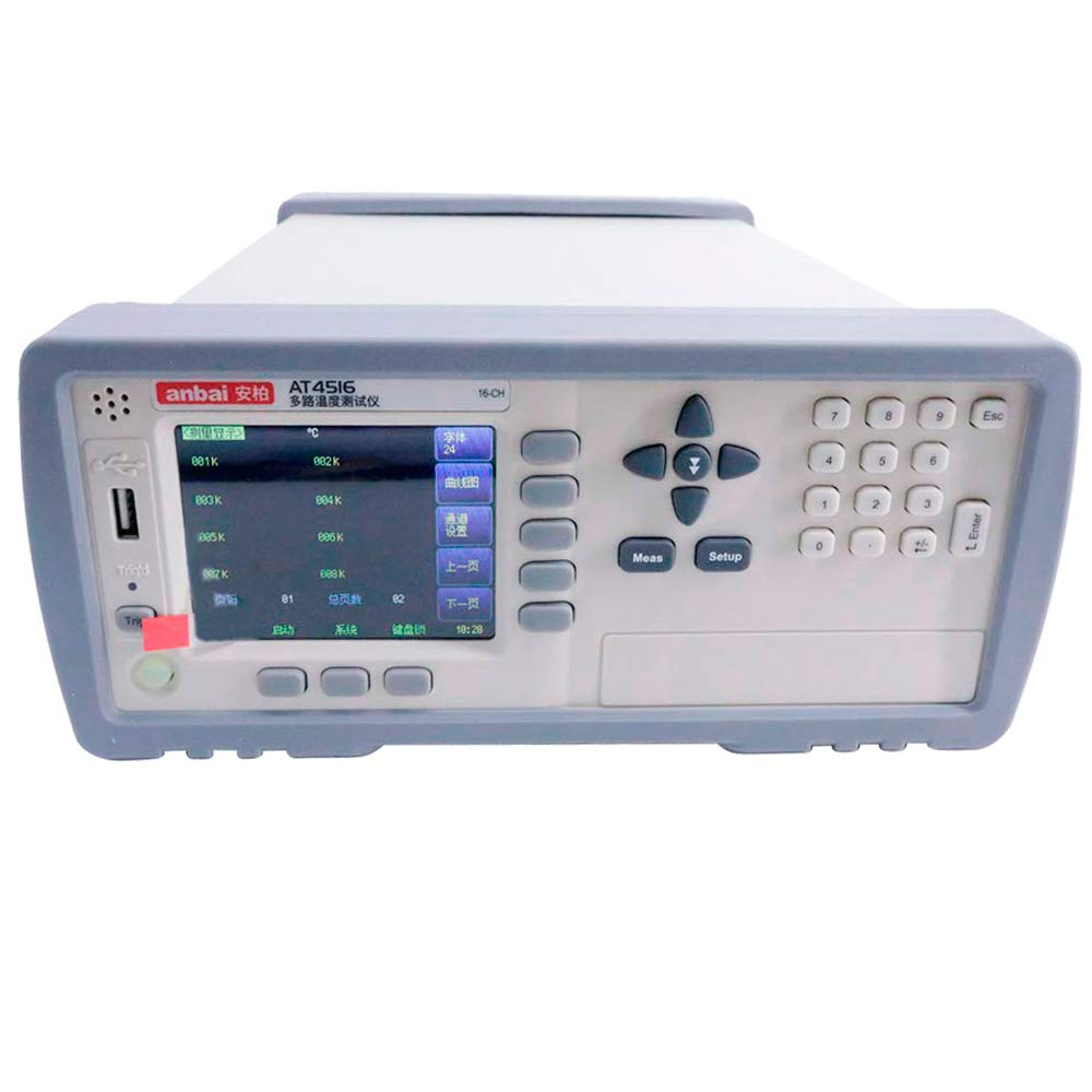 Tongbao AT4516 Channels Temperature Recorder Meter with RS232C and USB Interface LCD Display Thermocouple Data Logger -200℃ to 1300℃ Thermocouple J/K/T/E/S/N/B