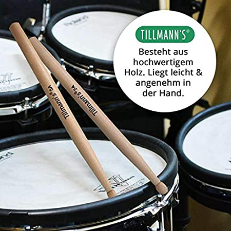Jazztrommel 1 Paar Drumsticks 5A Polyesterfaser Drumsticks für Schlagzeug