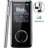 "MP3 Player Bluetooth, Tinzzi Portable Digital MP3 Music Player Lossless HiFi Sound with FM Radio, Voice Recorder, E-Book Reader, Photo Viewer, 1.8"" Screen, Micro SD Card Slot Max Support 64GB"