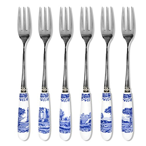 Spode Blue Italian Set of 6 Pastry Forks