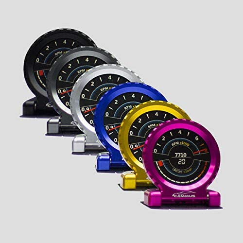 DE.SOUL i-Round LCD Racing Gauge 13 in 1 P/&P OBD RPM Turbo Water air Oil G-Value Speed
