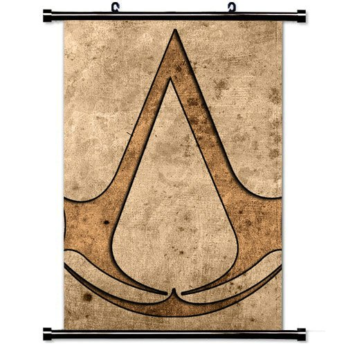 Wall Scroll Poster with Assassins Creed Assassins Symbol Graphics Home Decor Wall Posters Fabric