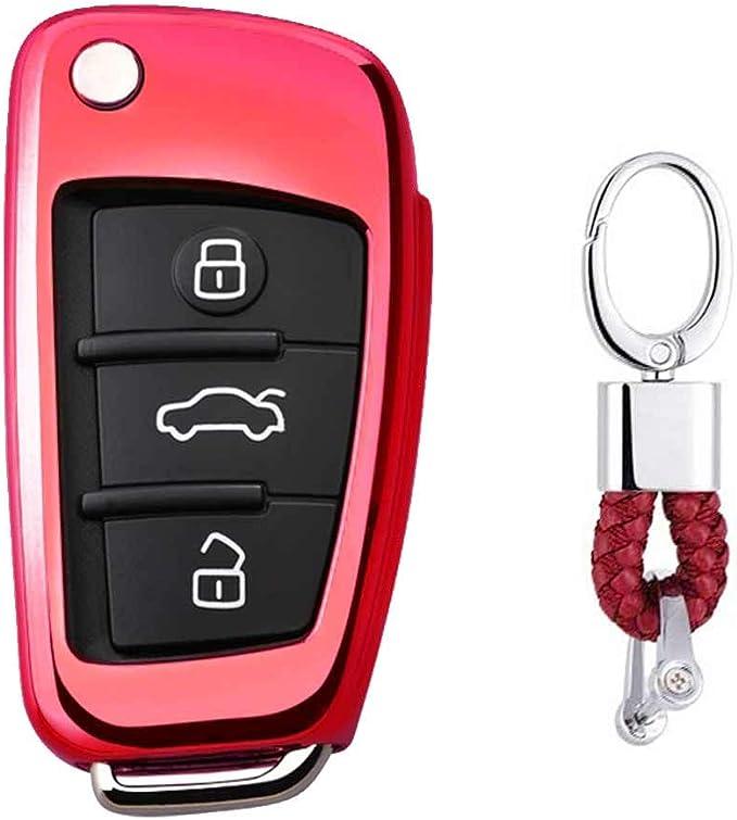 Rot Car Keyless Entry Key Cover Fall Für Audi A1 S1 A3 Elektronik