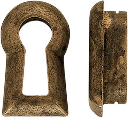 Key blade Biedermeier brass size 29 x 18 - Stilmelange quality from Europe since ()