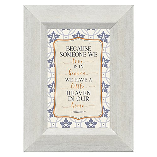 Someone we Love in Heaven in Our Home 4.5 x 6 Inch Framed Easel Back Sign Plaque