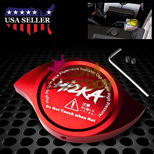 - Red Billet Aluminum Radiator Protector Pressure Cap Cover Car High Performance