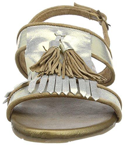 xyxyx Sandal - Sandalias de tobillo Mujer Dorado - Gold (gold/beige)